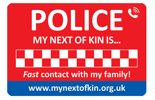 My Next of Kin Is....?  Fast contact with your family in an emergency